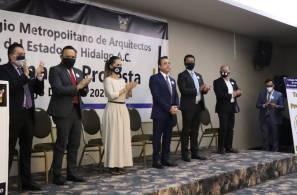 Toma de protesta nuevo consejo directivo 2020-2021 del Colegio Metropolitano de Arquitectos del Estado de Hidalgo1