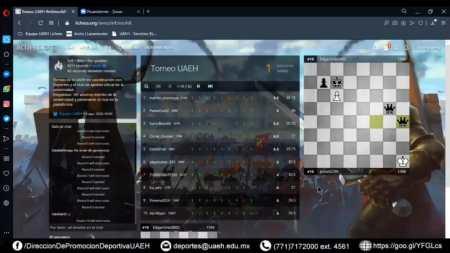 UAEH da a conocer ganadores del primer torneo de ajedrez virtual