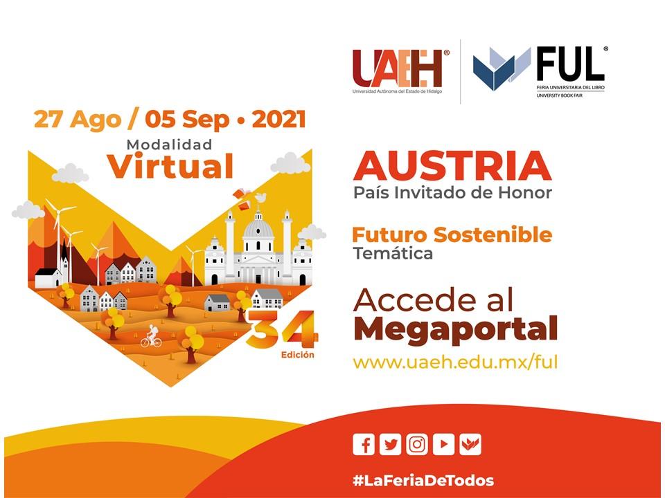 Feria Universitaria del Libro (FUL) del 27 de agosto al 5 de septiembre de 2021